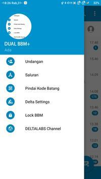 DUAL BBM+ (MOD) 2017 apk screenshot