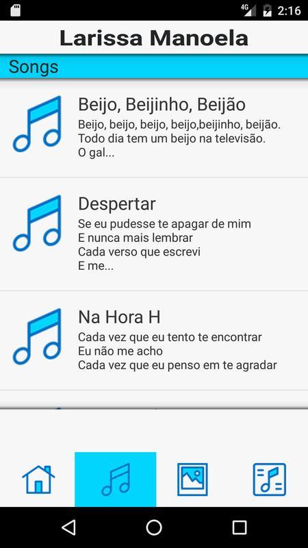 054b10546af09 LARISSA MANOELA Música Letra para Android - APK Baixar