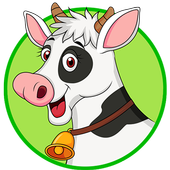 Animal Care- milking the cow icon