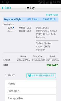 Dubai Flights screenshot 2
