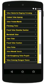 Aneka Resep Olahan Telur screenshot 5