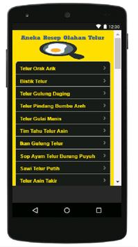 Aneka Resep Olahan Telur screenshot 2