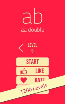 ab - aa double : 1200 Levels poster