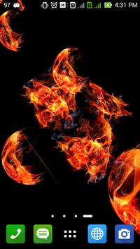 Scary Skull Fire 3D Wallpaper apk screenshot