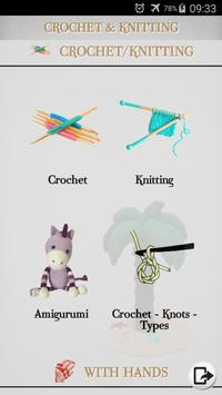 Crochet - Knitting - Embroidery - Macrame poster