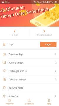 Duit Plus ~ Aplikasi uang cepat online screenshot 3