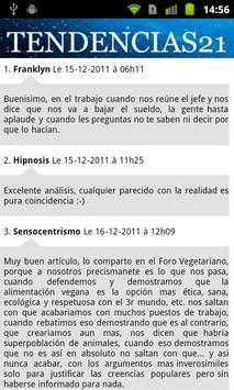 Tendencias21 screenshot 2