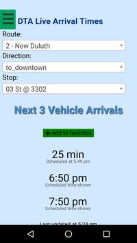 Duluth DTA Bus Tracker poster