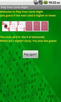 Play Your Cards Right apk screenshot