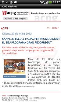 ACPG Notícies apk screenshot
