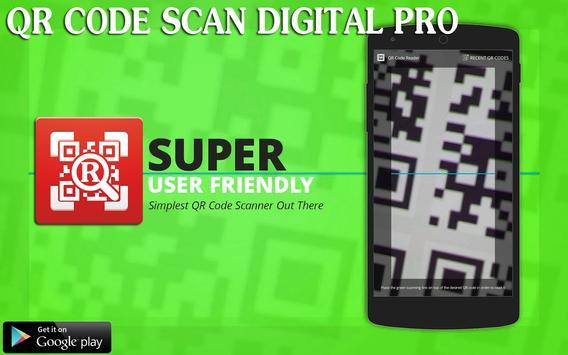 QR Barcode Digital Scan poster