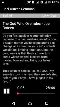 Joel Osteen's Sermons screenshot 1