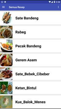 Resep Makanan Khas Banten poster