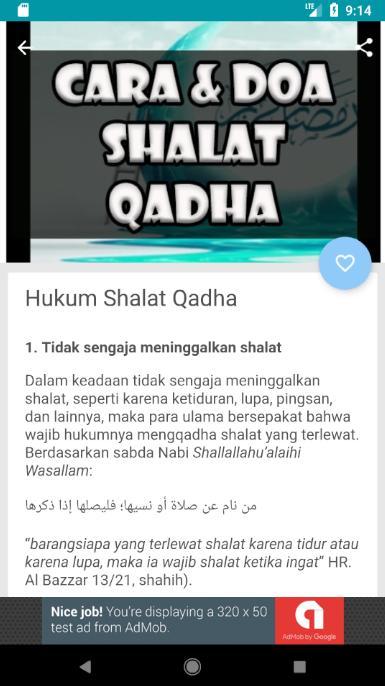 Tata Cara Dan Doa Shalat Qadha For Android Apk Download