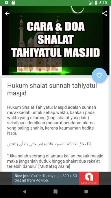 Tata Cara Dan Doa Shalat Tahiyatul Masjid For Android Apk Download