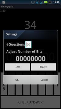 Binary Conversion Quiz apk screenshot