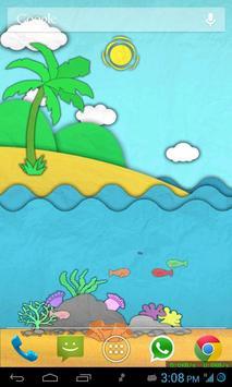 Paper Sea Live Wallpaper Free poster