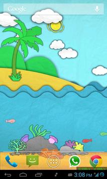 Paper Sea Live Wallpaper Free apk screenshot