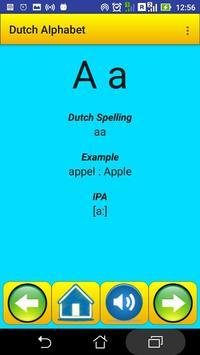 Dutch Alphabet for university students poster