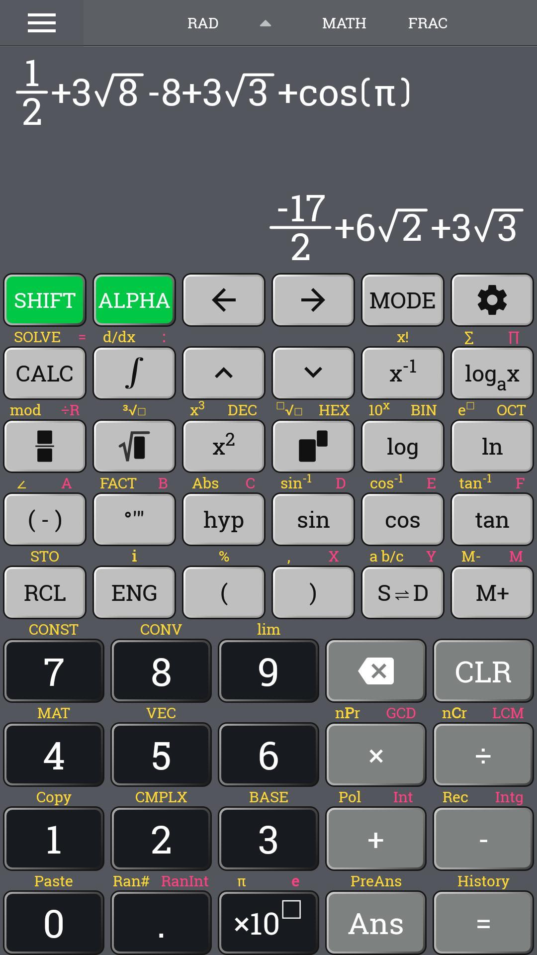 School Scientific calculator casio fx 570 es plus for Android - APK