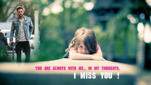 Miss You Photo Frame screenshot 2