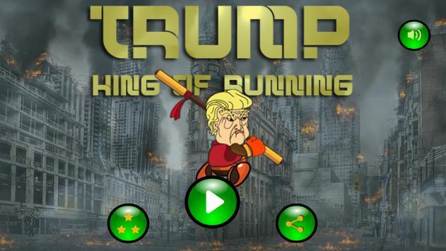 Trump King Of Running poster