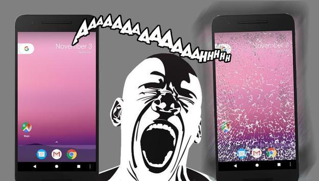 Scream and broke screen poster