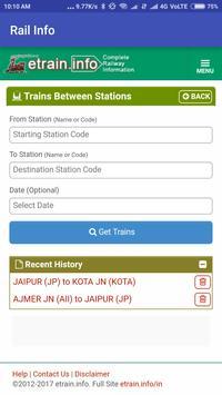 Indian Easy Rail Info screenshot 4