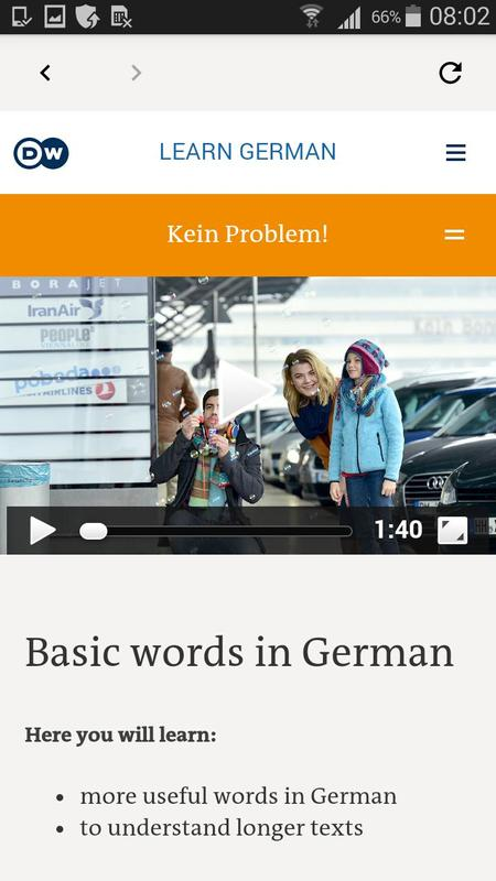 Deutsche welle learn german app