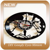 DIY Googly Eyes Minion Clock icon