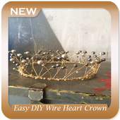 Easy DIY Wire Heart Crown icon