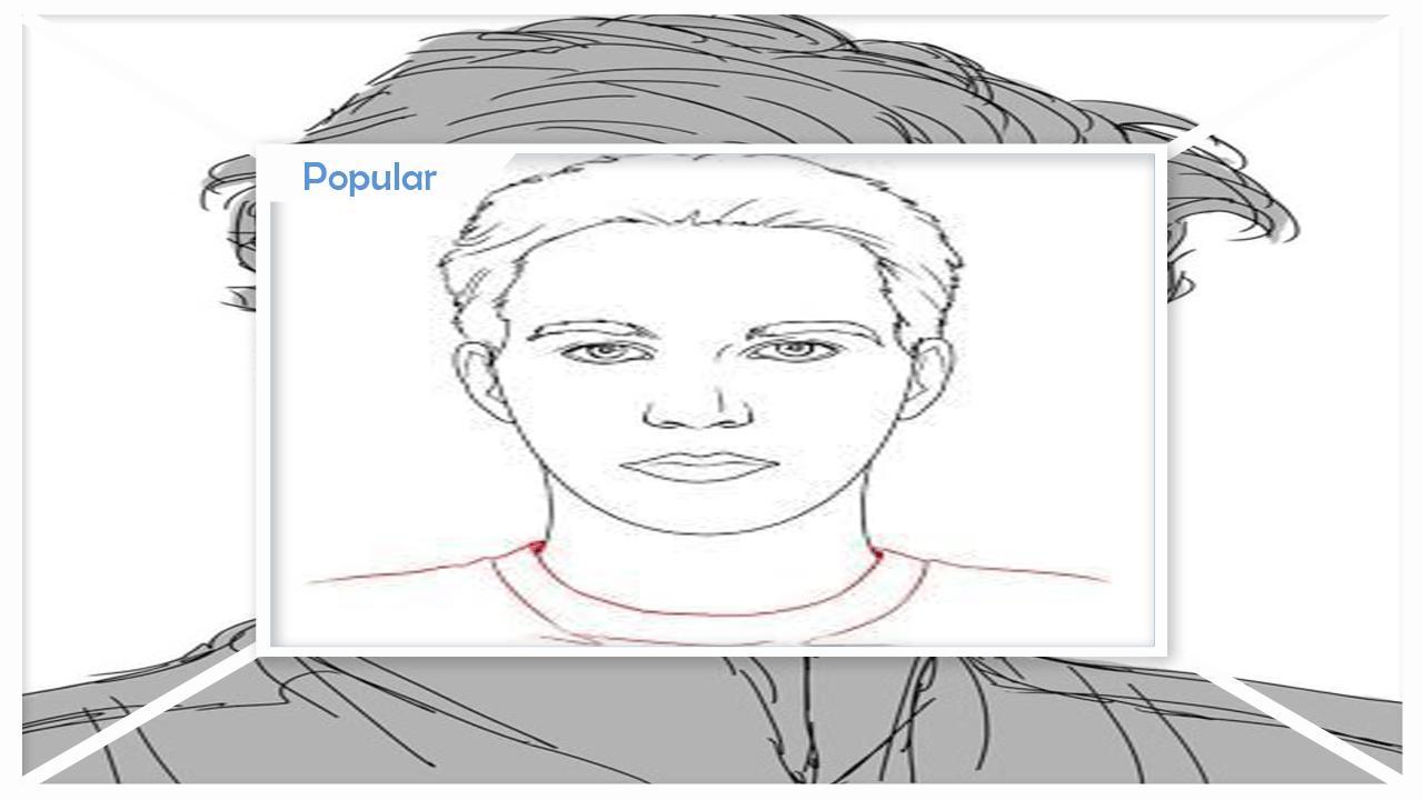 Visage Masculin Facile A Dessin Pour Android Telechargez L Apk