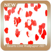 Hearts Live Wallpaper HD icon