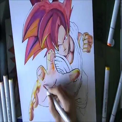 How To Draw Goku Super Saiyan God For Android Apk Download