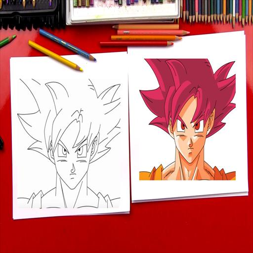 How To Draw Goku Super Saiyan God For Android Apk Download