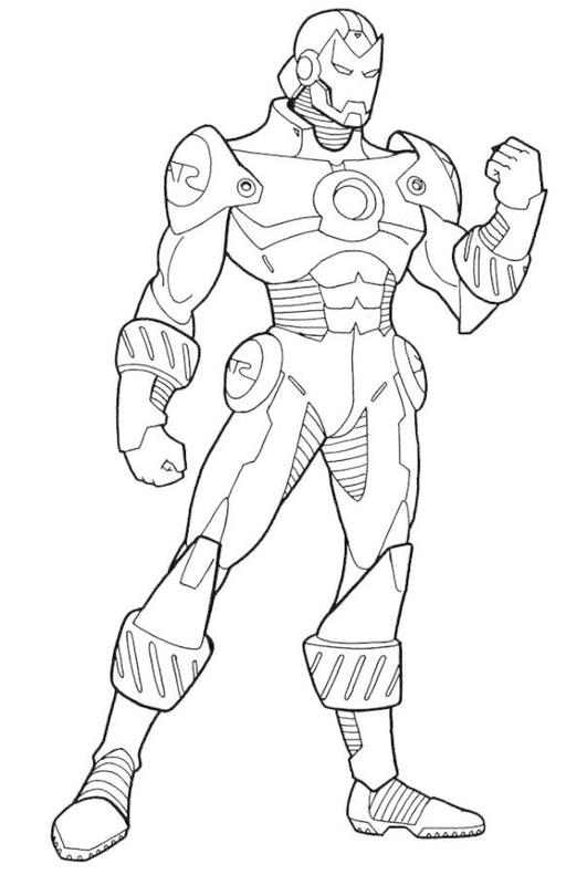 step by step on how to draw ironman