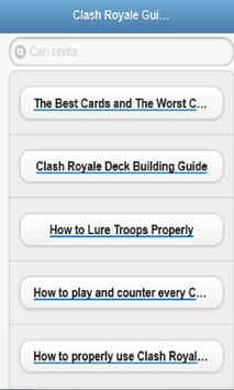 Guide For Clash Royale Updated poster