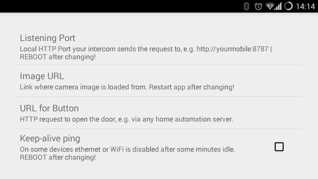 IP Intercom Doorbell apk screenshot