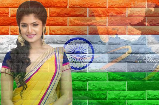 Indian Flag Photo Editor  & Flag Photo Frame poster