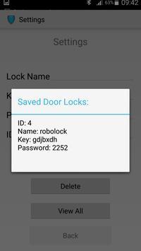 RoboLock Electronic door lock apk screenshot