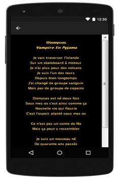 New Lyrics Dionysos apk screenshot