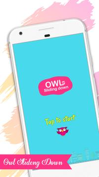 Owl Sliding Down poster