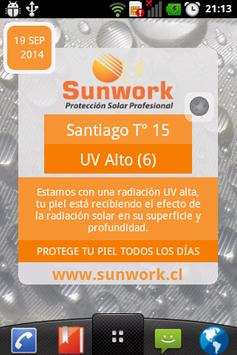 Indice UV Sunwork poster