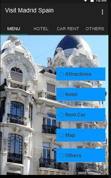 Visit Madrid Spain poster