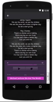 Michael Jackson Popular Lyrics poster