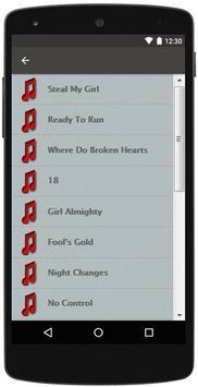 ONE DIRECTION TOP LYRICS apk screenshot