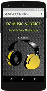 Cartel De Santa Musica Letra poster
