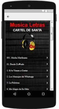Cartel De Santa Musica Letra screenshot 1