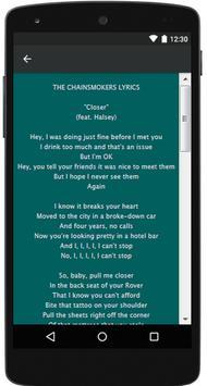 THE CHAINSMOKERS Songs Lyrics screenshot 3
