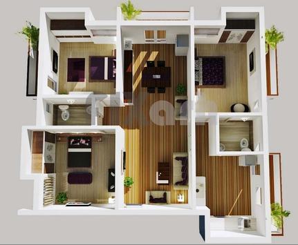 3D Design for 3 Bedroom poster